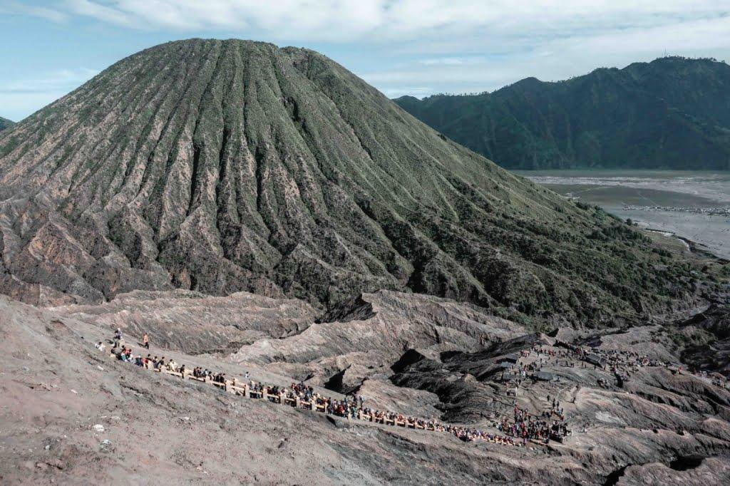 Mount Bromo active volcano in East Java Indonesia